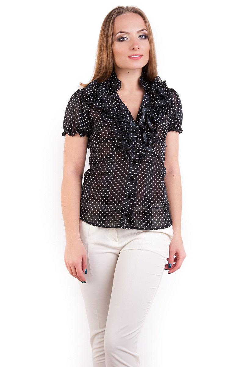 Оптом офисные блузы Modus Блуза Лола шифон короткий рукав
