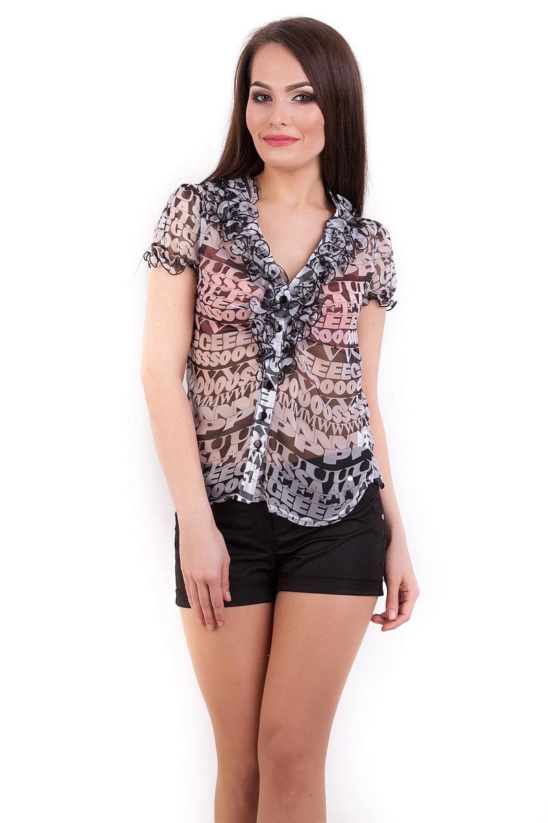Блузки оптом от производителя Modus Блуза Лола шифон короткий рукав