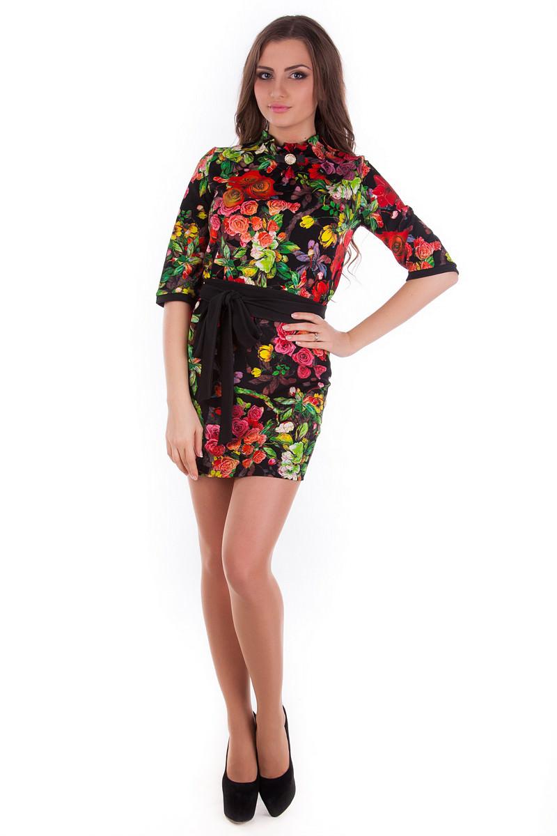 Платье «Элегия принт кукуруза»