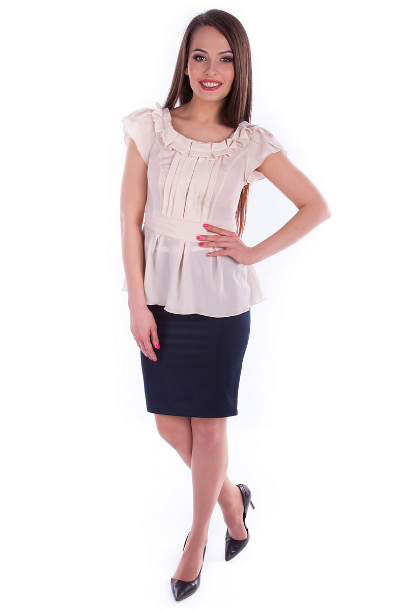 Белые блузки оптом от MODUS Блуза Мария
