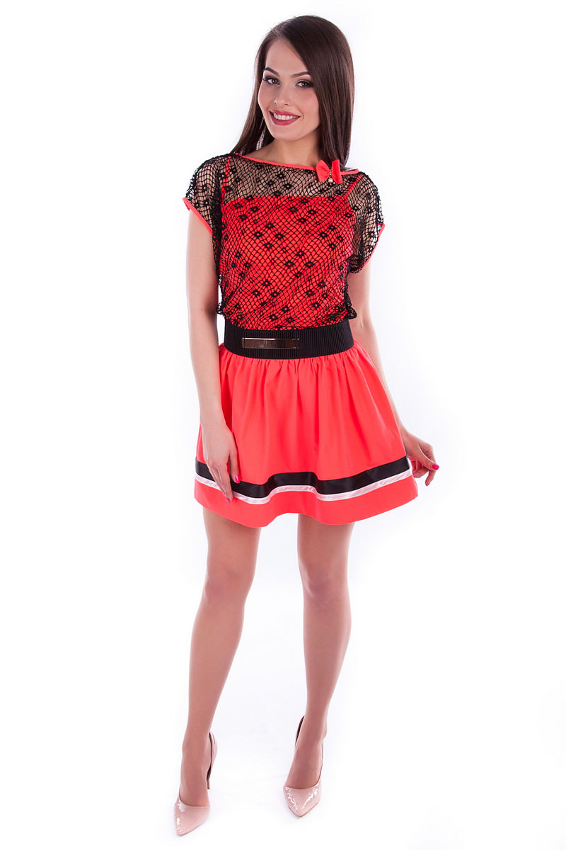 Оптом платье недорого от Modus Платье Дениз неон сетка