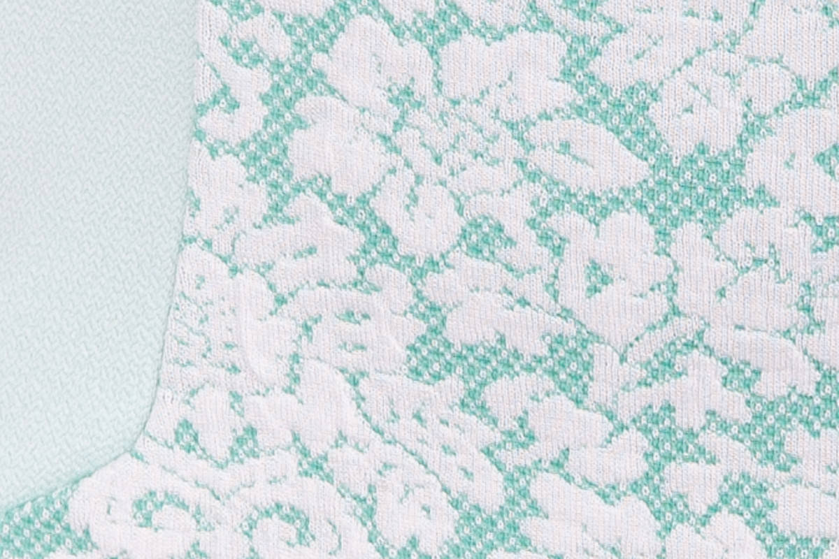 Платье Стефани 3536 Цвет: Мята / белый