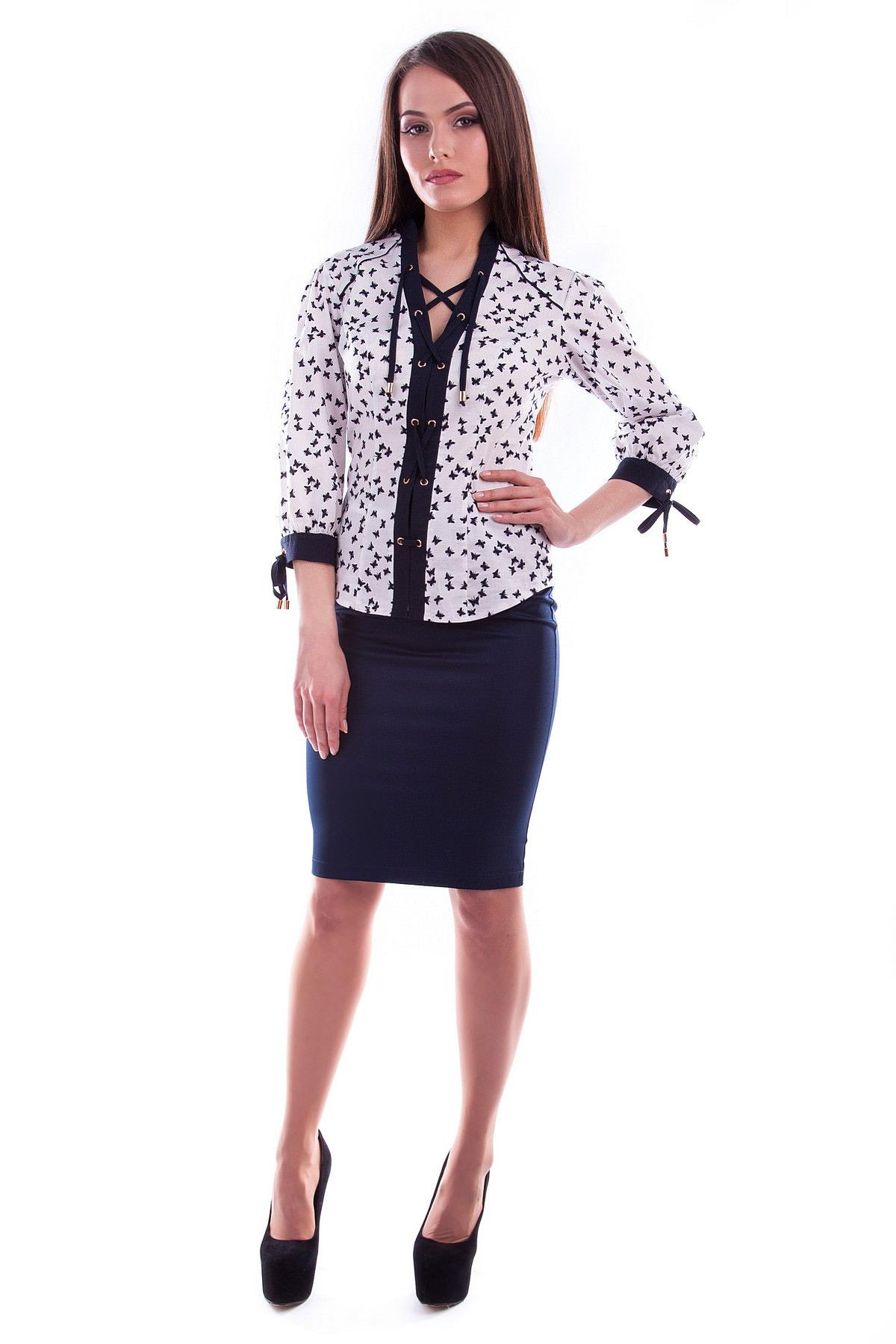 Белые блузки оптом от MODUS Блуза Батерфляй