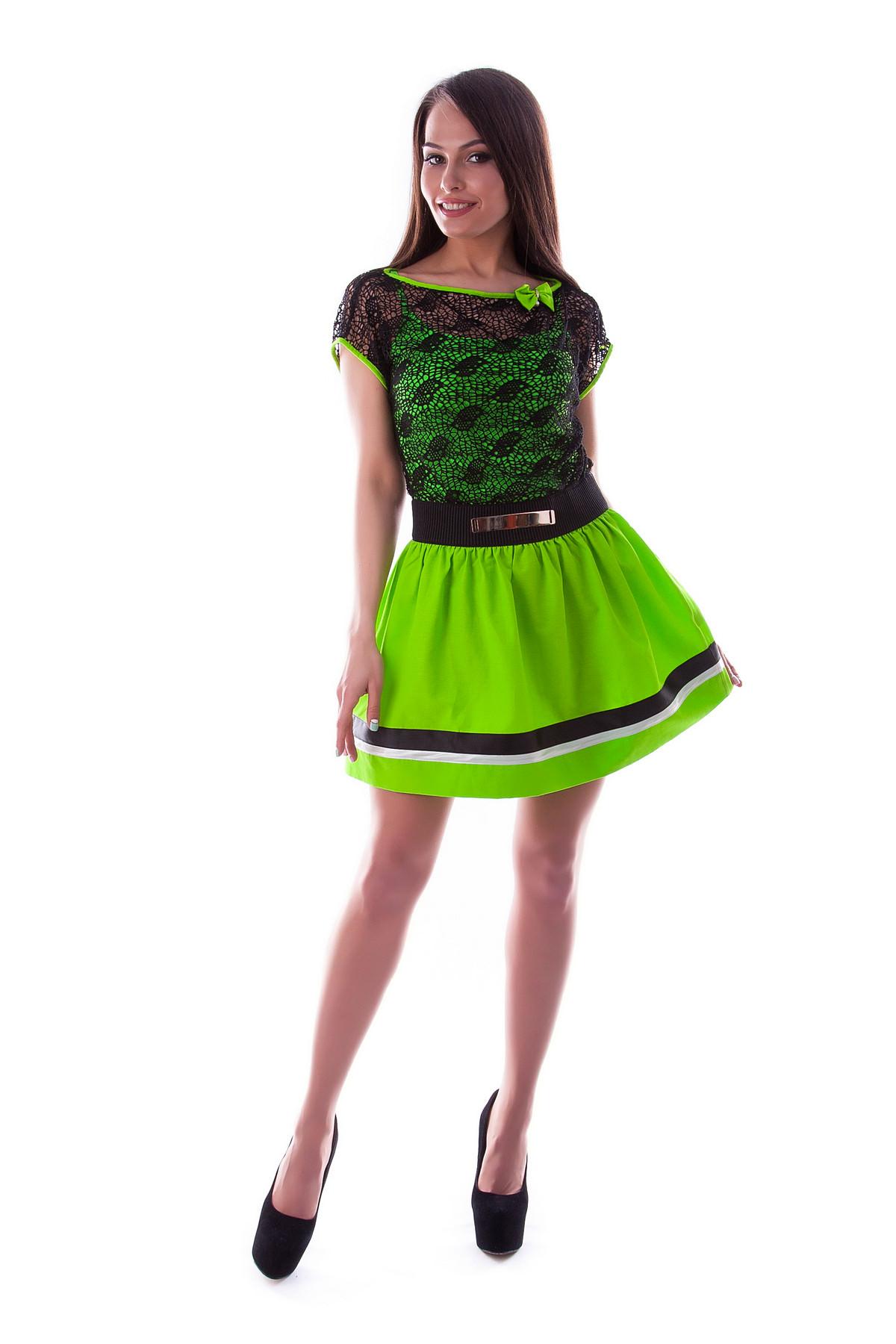 Купить платья оптом от производителя Платье Дениз неон сетка