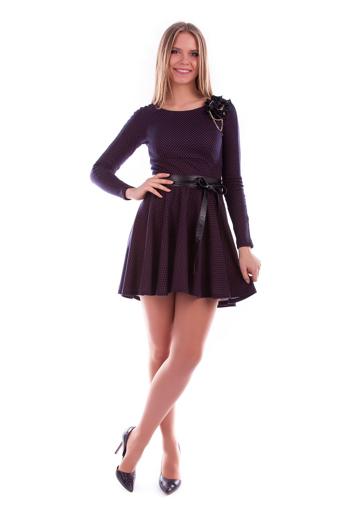 Платья трикотажные оптом от производителя Платье Фенди горох