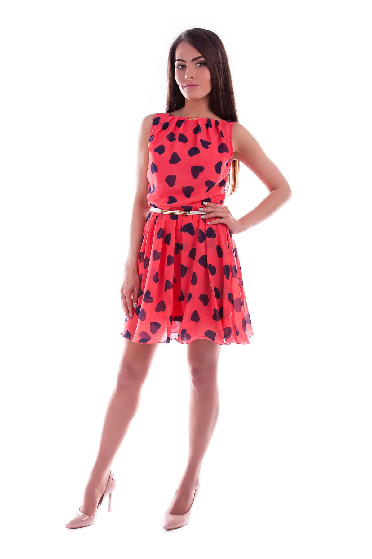 511d096adaf Шифоновое платье спереди короткое .