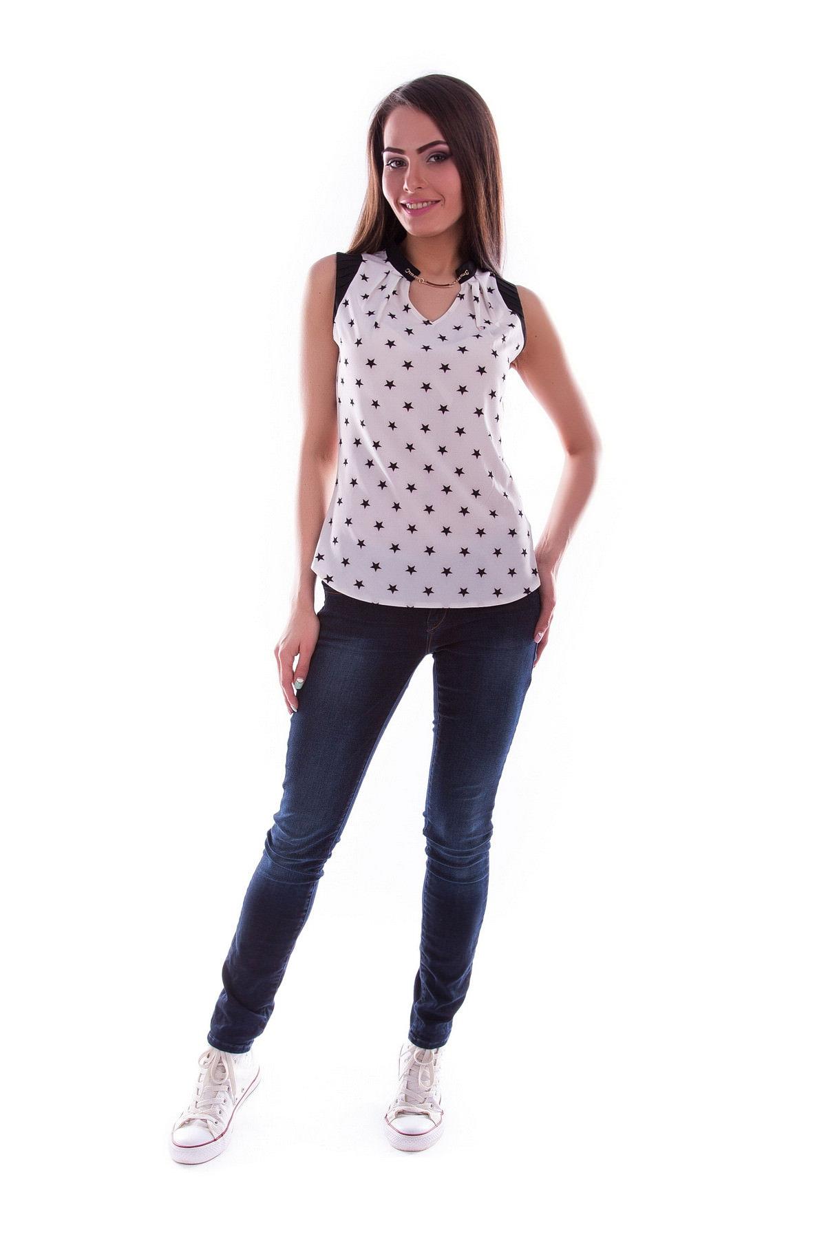 Блузки оптом от производителя Modus Блуза  Кая креп бистрейч принт