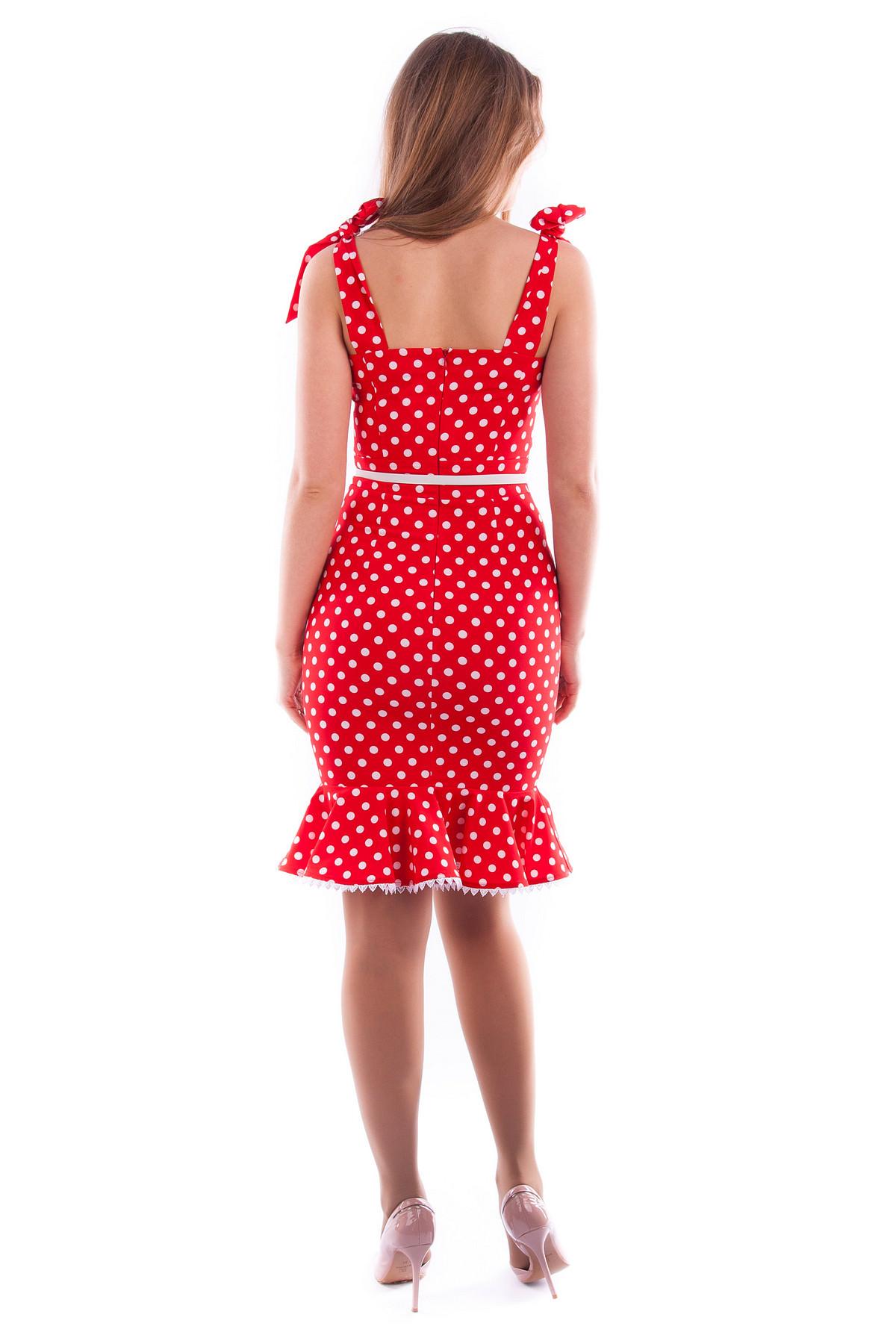Платье Белое В Красный Горох Купить