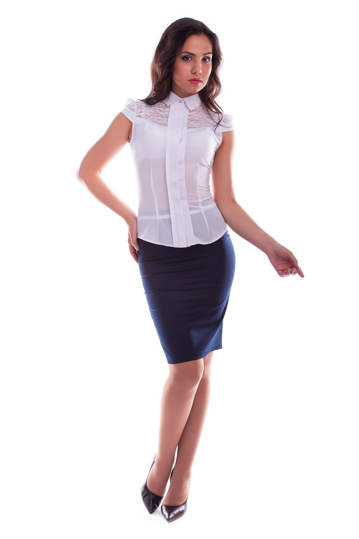 Блузка шифон белый купить