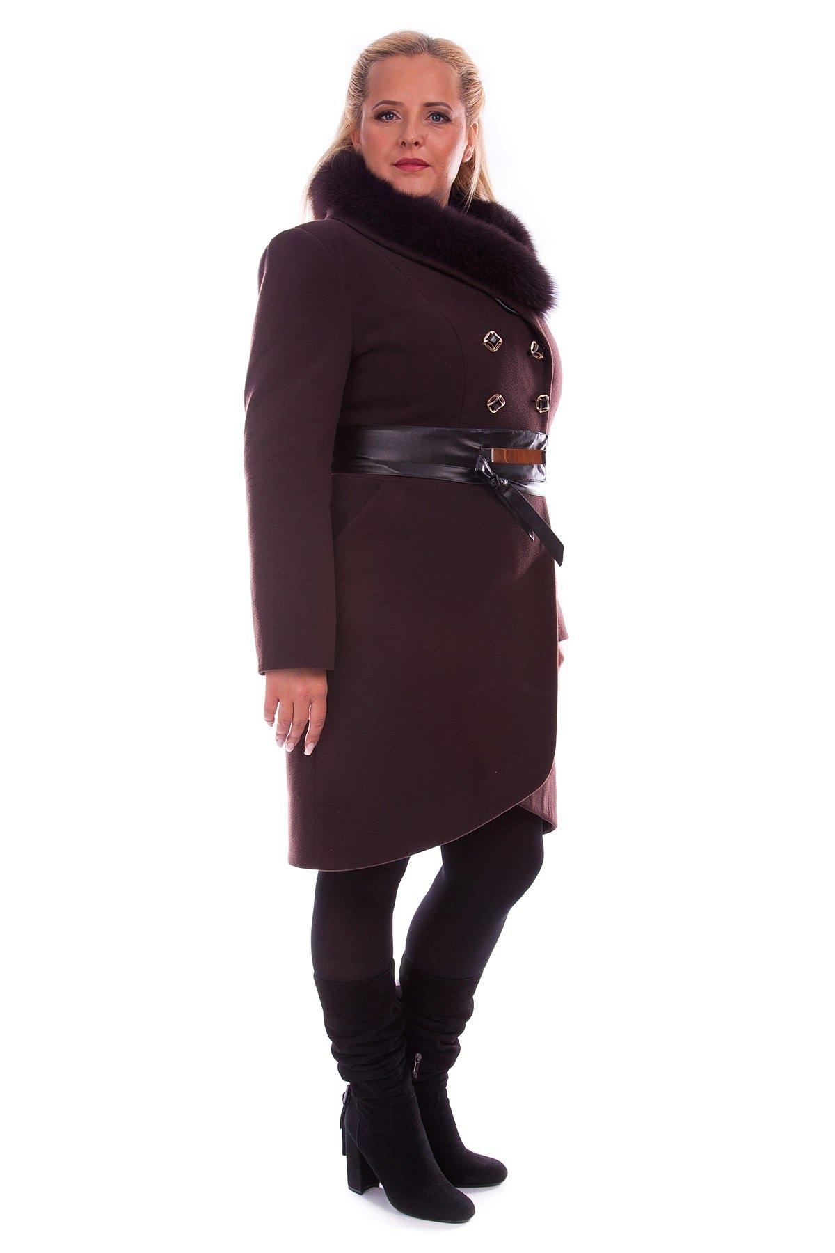 Женское пальто с мехом оптом от Modus Пальто Кураж 96 Donna зима