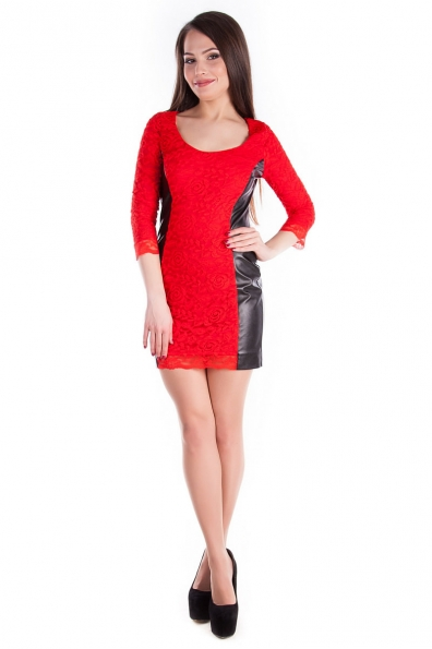 Платье Ажур skin Цвет: Красный
