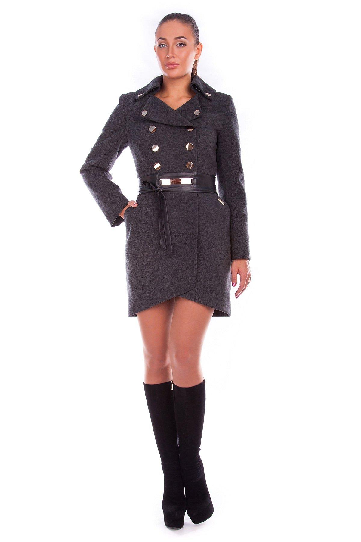 Купить оптом женское пальто недорого Пальто Кураж Англ.воротник Зима