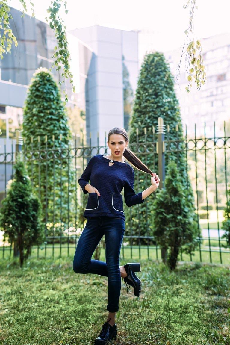 Женская одежда оптом Украина Modus Кофта Булгари дайвинг теснение