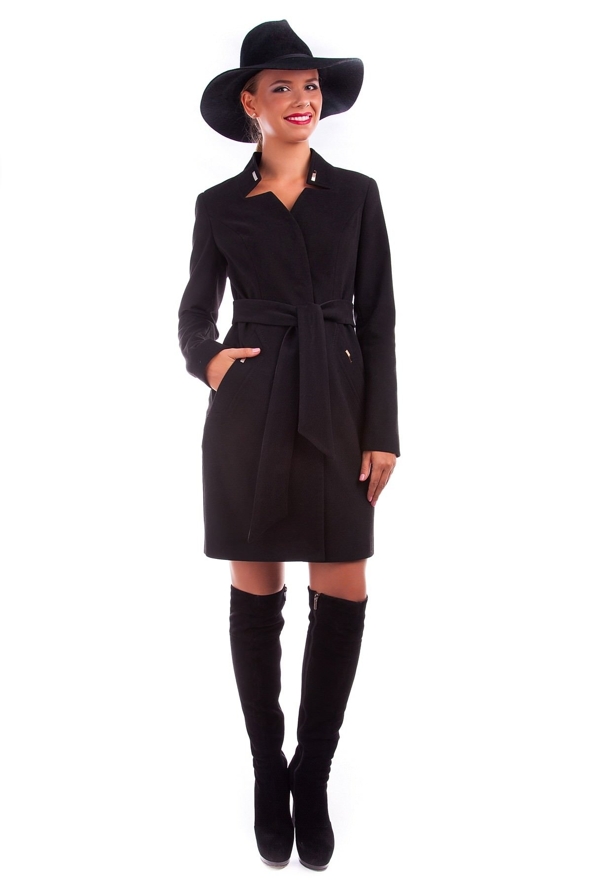 Купить кашемировое пальто оптом от производителя Пальто Хейли 4175