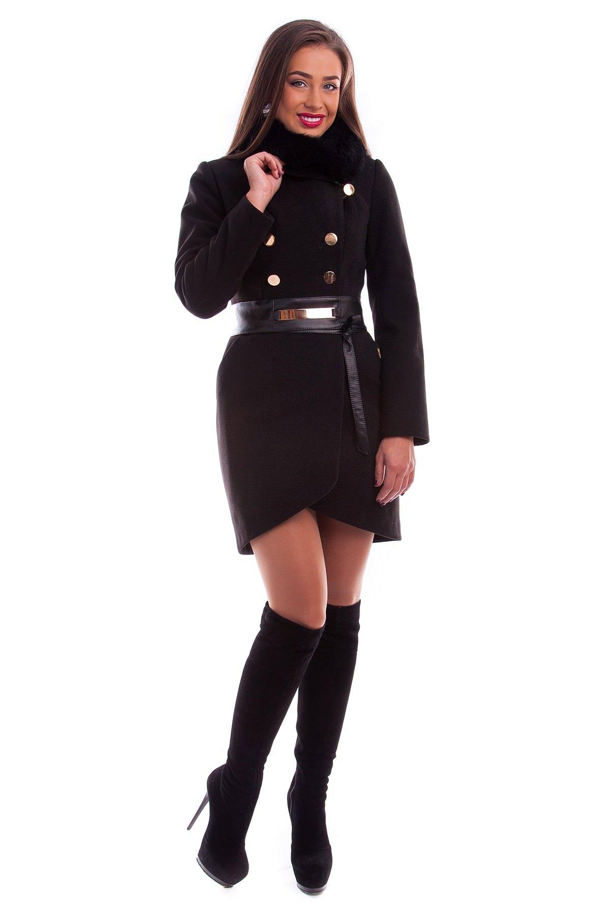 Модус женская одежда оптом недорого Пальто Кураж песец 90