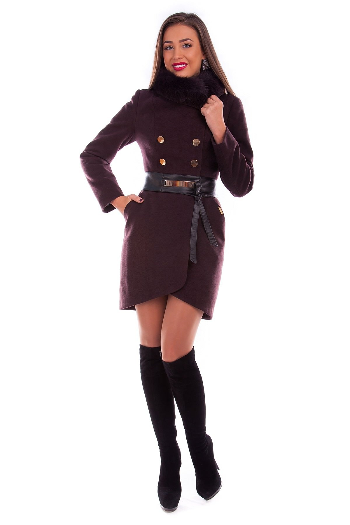 Женское пальто оптом от производителя Modus Пальто Кураж песец 90