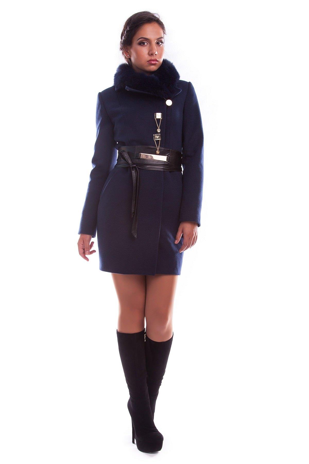 Купить оптом женское пальто недорого Пальто Магия зима песец