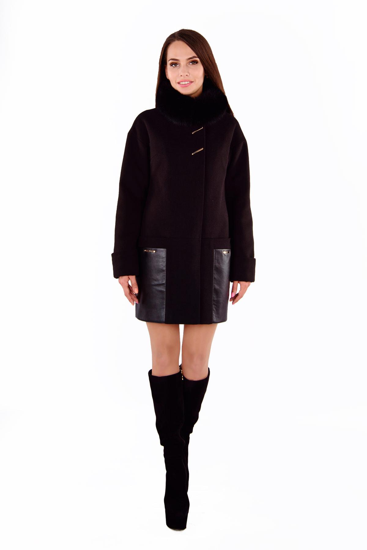Пальто Акра 4367 Цвет: Черный