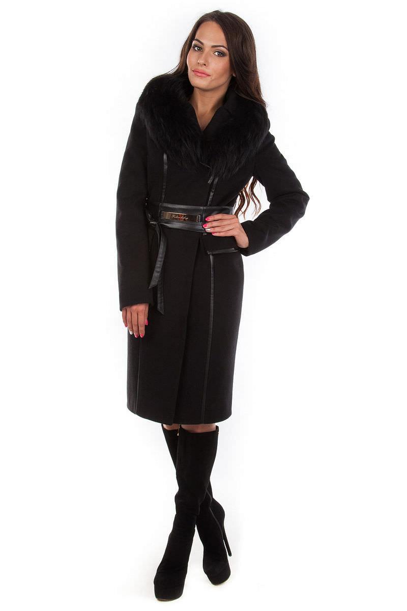 Женское пальто оптом от производителя Modus Пальто Граас  песец зима