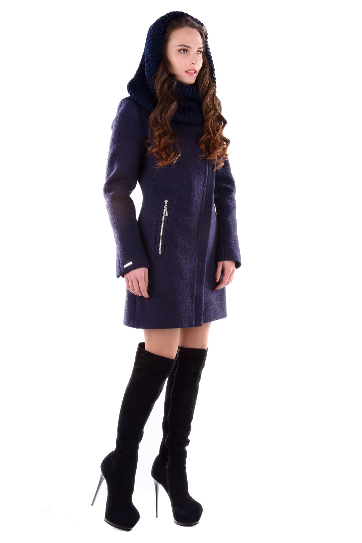 Пальто Эльпассо 4485 Цвет: Тёмно-синий