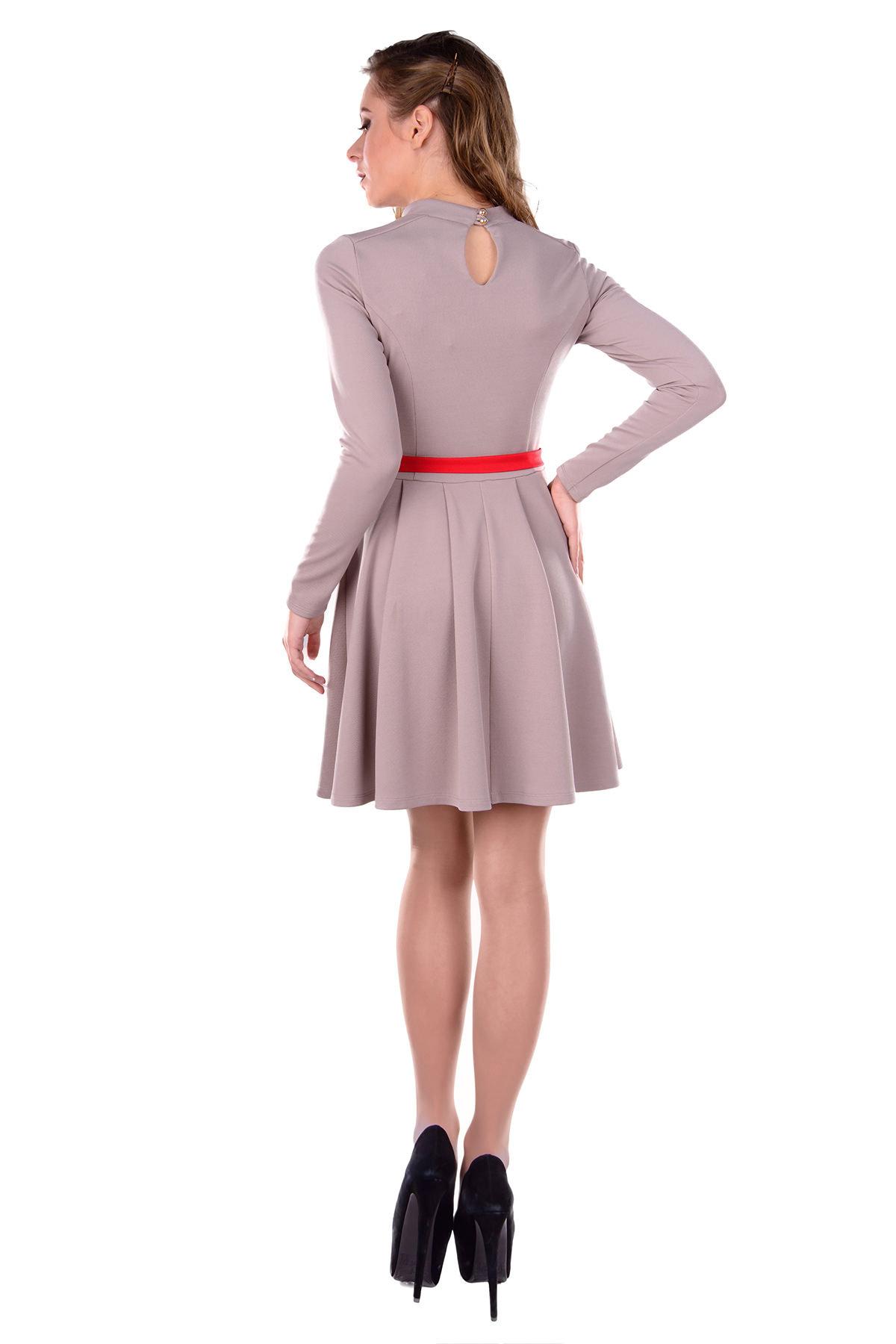 Платье Иванка 2995 Цвет: Тёмно - бежевый