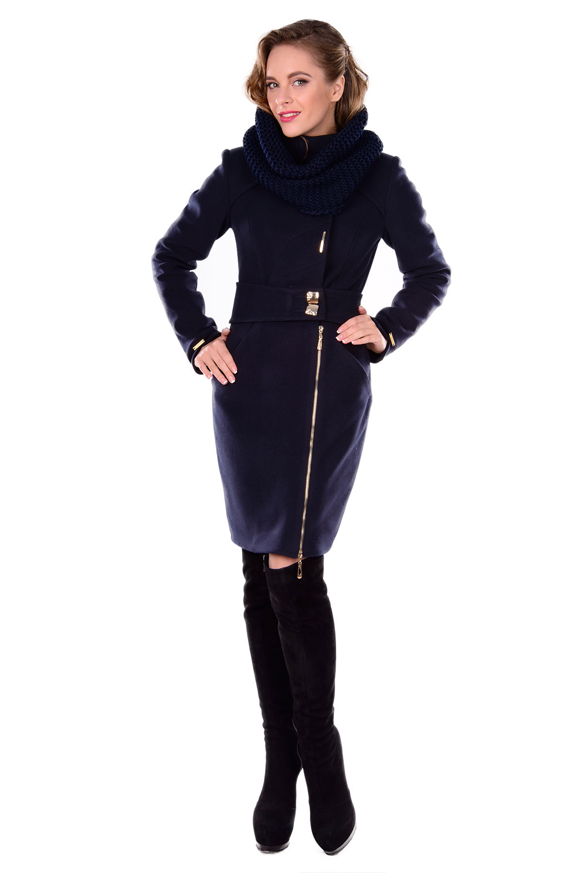 Женская одежда оптом от производителя Modus Пальто Монте-Негро турция элит зима хомут