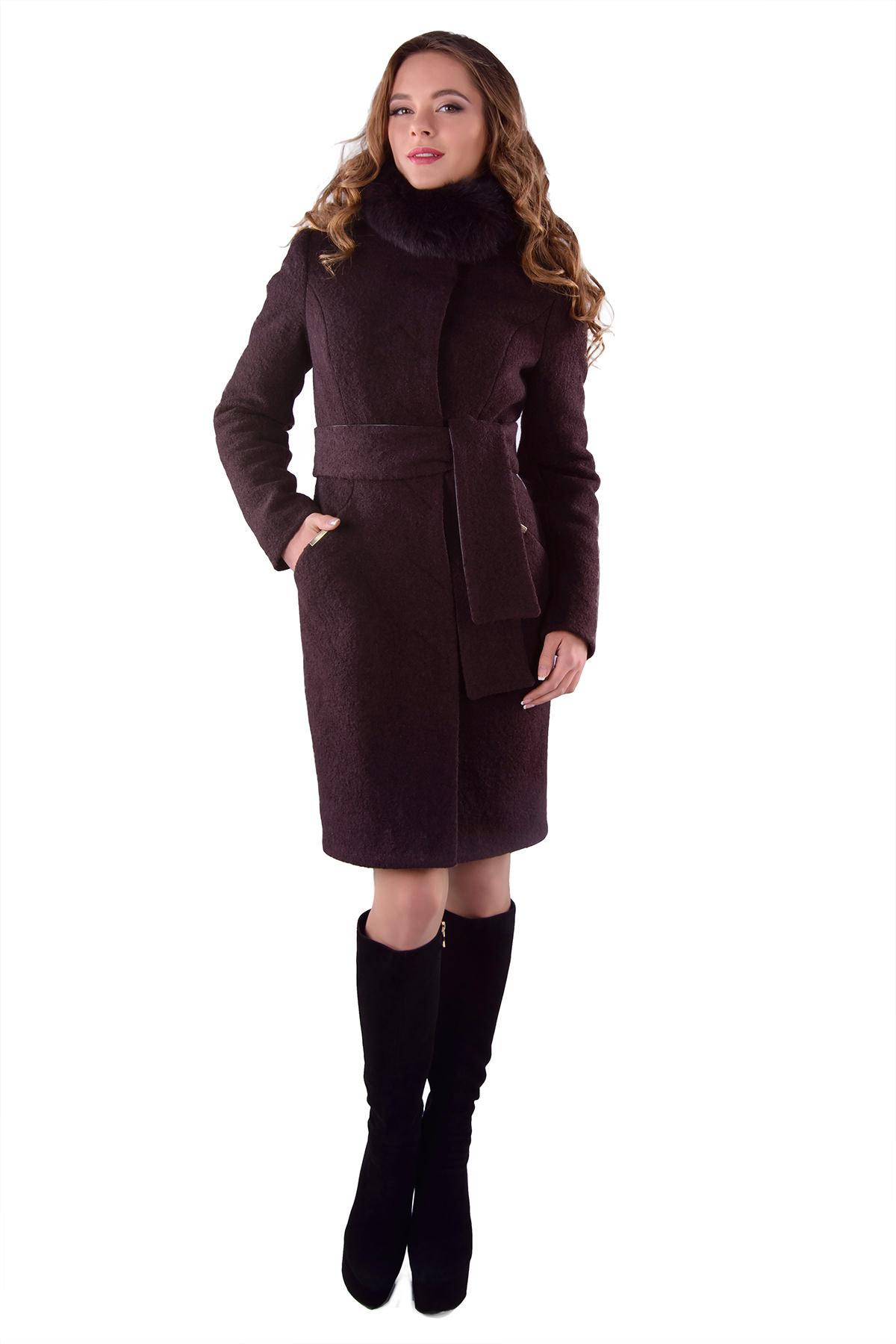 Женская одежда оптом от производителя Modus Пальто Луара лайт шерсть зима песец
