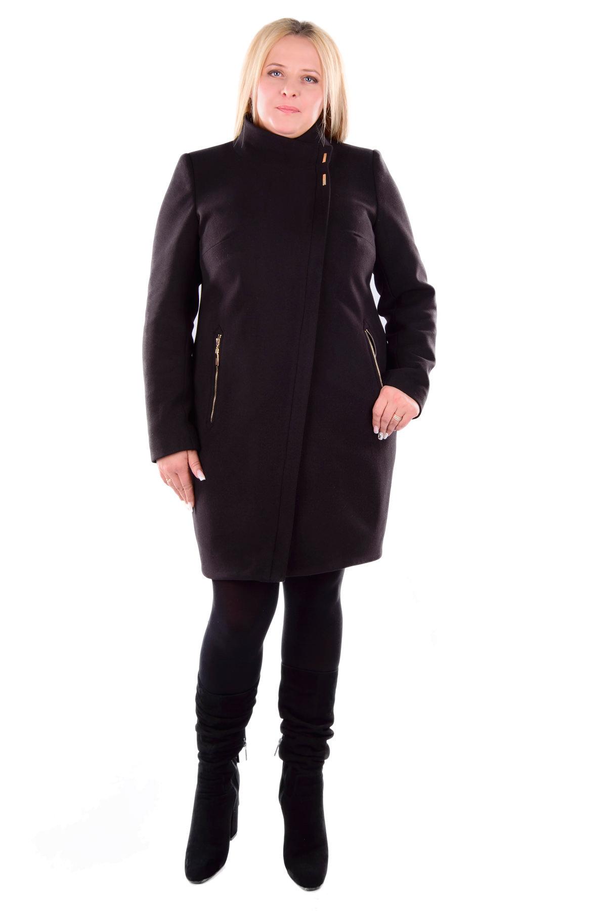 купить зимнее пальто женское большого размера Пальто Эльпассо Donna турция зима песец