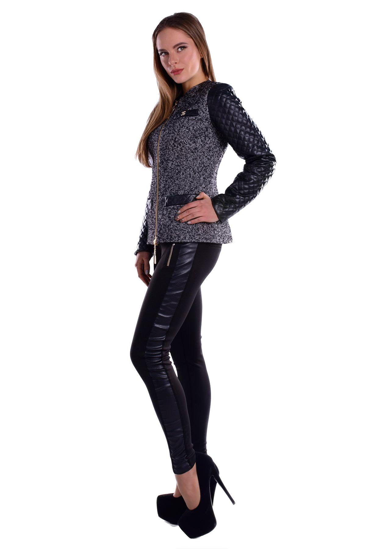 Пальто Инди шерсть АРТ. 5393 Цвет: Серый 1 меланж - фото 2, интернет магазин tm-modus.ru