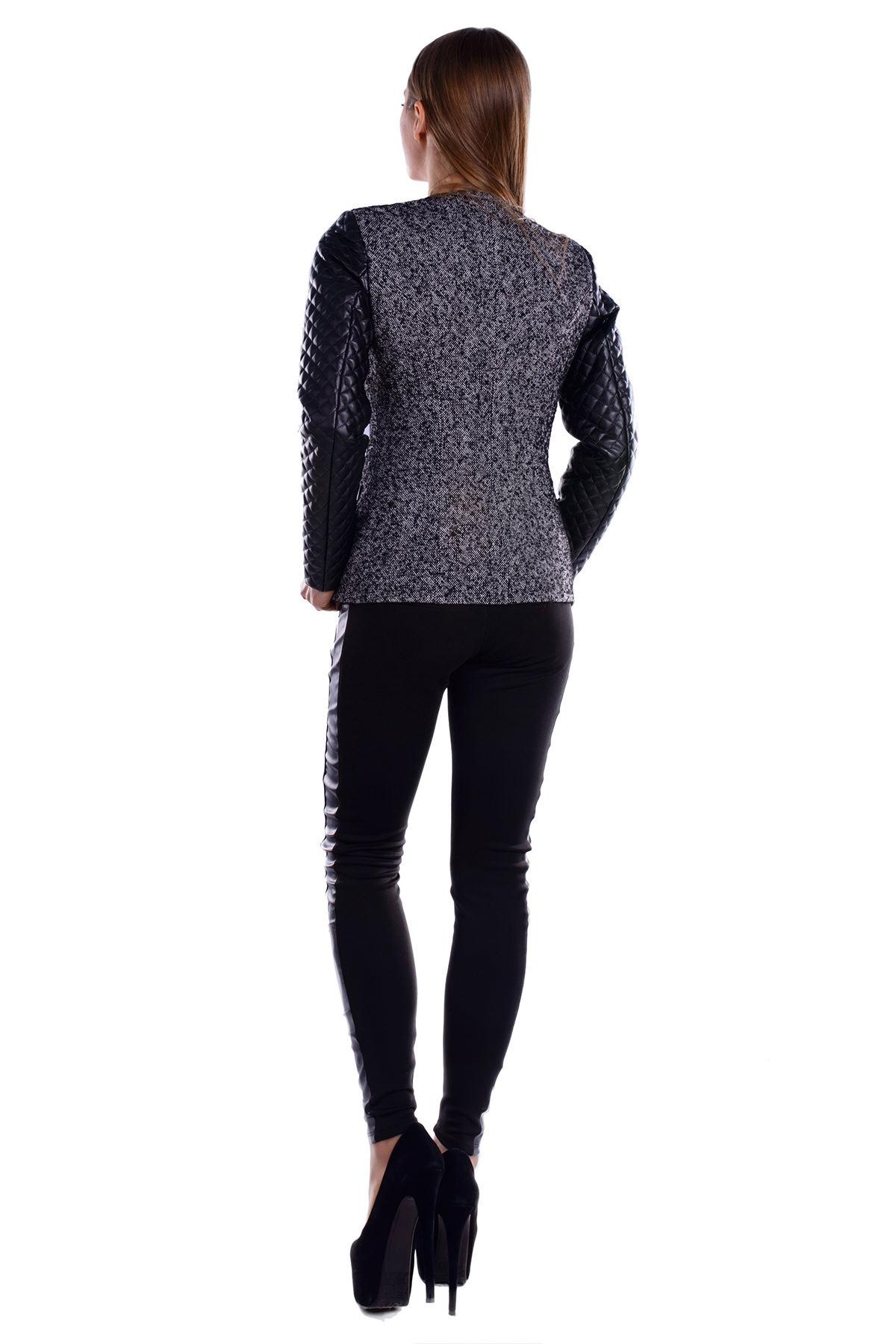 Пальто Инди шерсть АРТ. 5393 Цвет: Серый 1 меланж - фото 3, интернет магазин tm-modus.ru