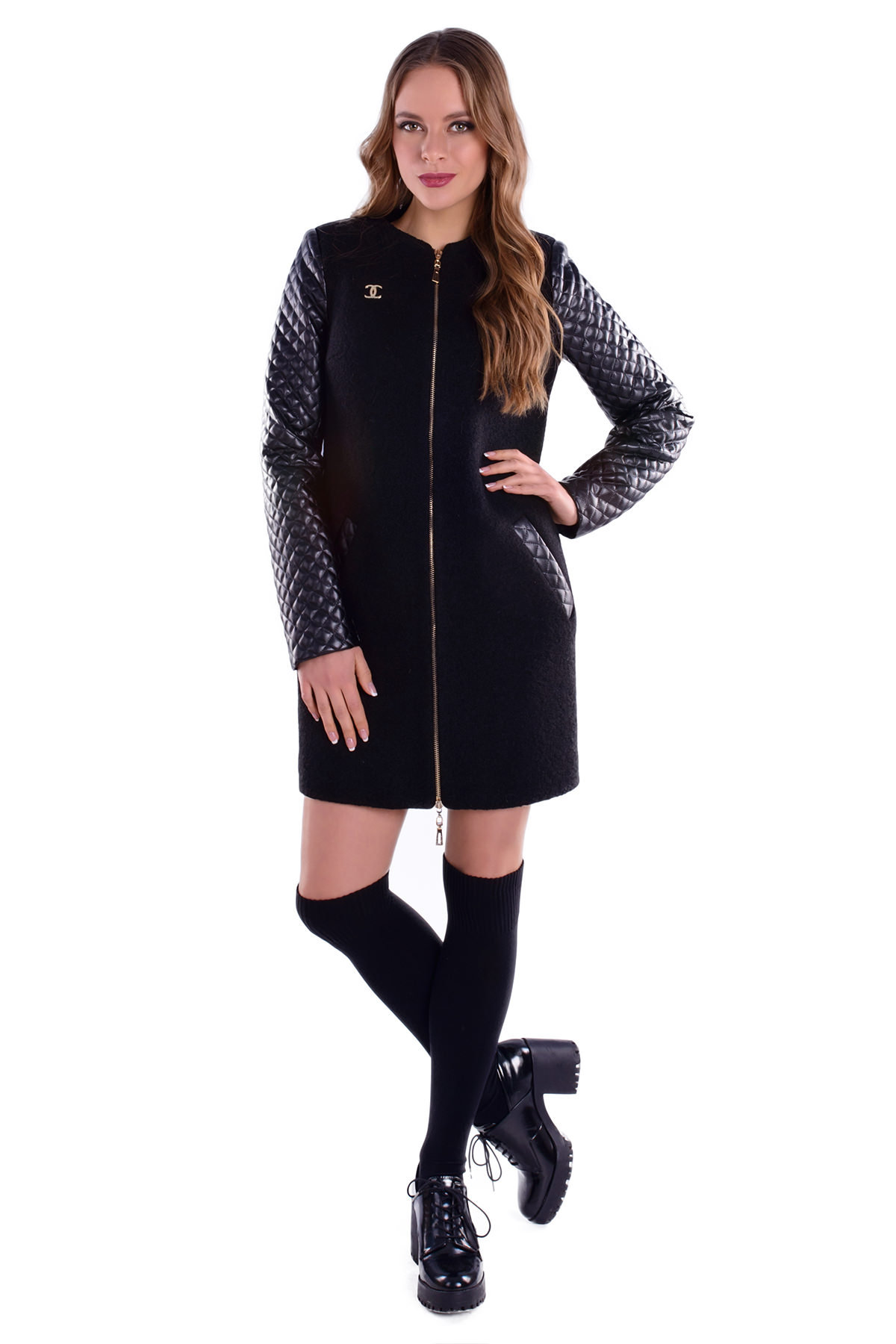 Модус женская одежда оптом недорого Пальто Сан-Ремо шерсть