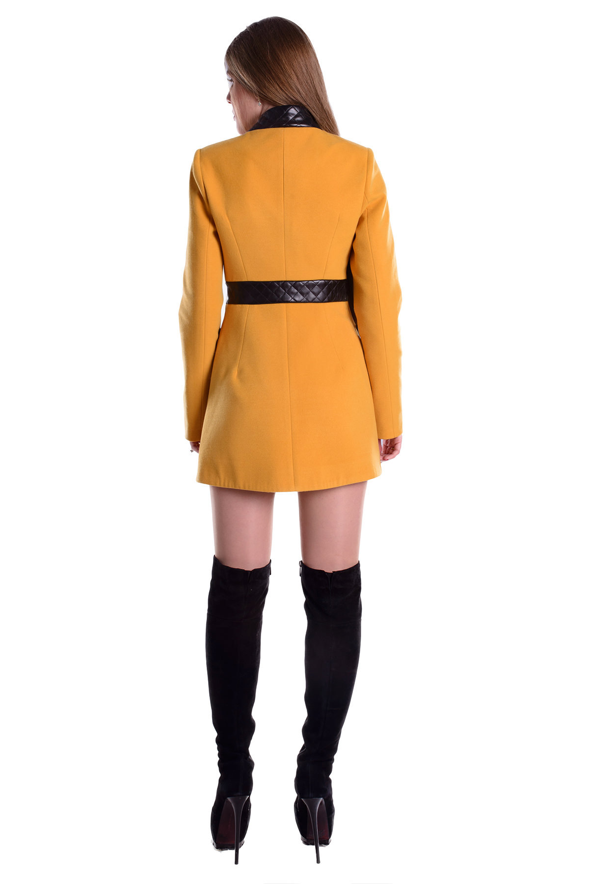 Пальто Фрея 4896 Цвет: Горчица H 25