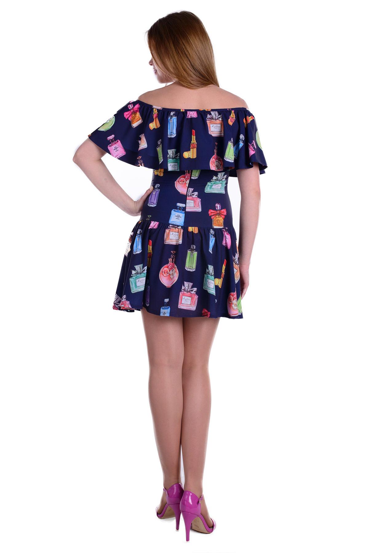 Платье Майами вискоза принт Цвет: Тёмно-синий, духи