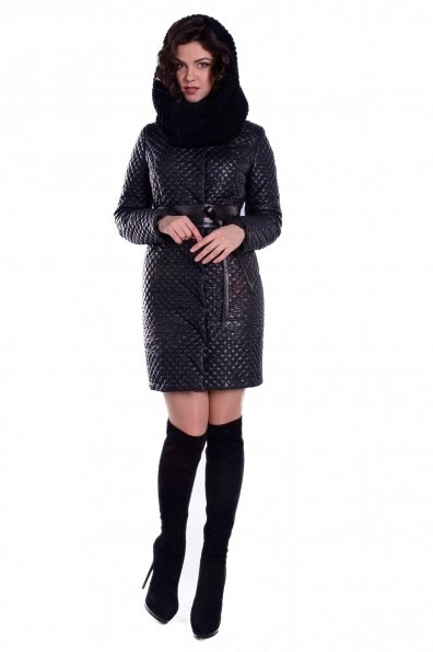 Пальто зима Андрия 4862 Цвет: Черный