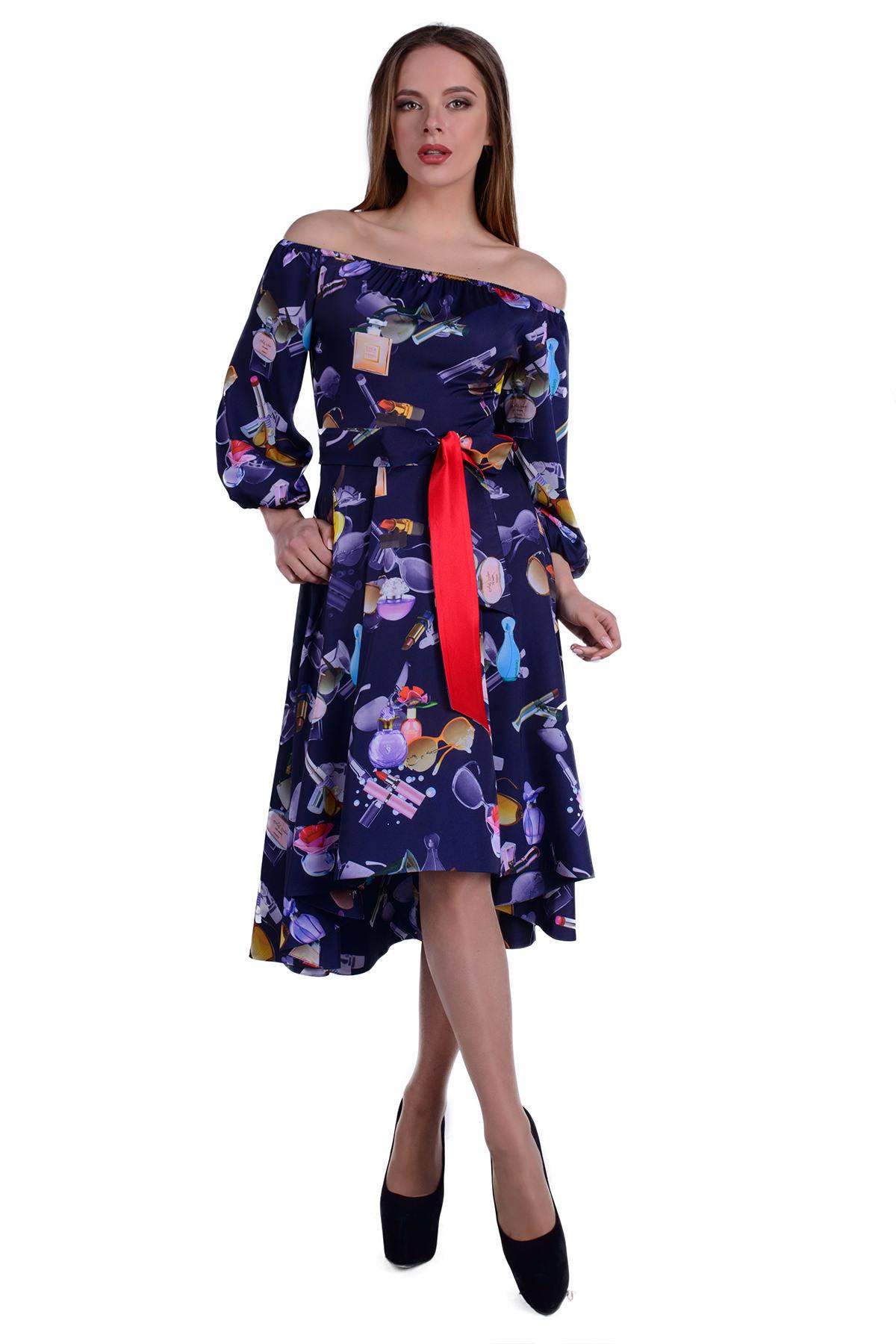 Купить оптом трикотажные платья в Украине Платье Мэрлин 19