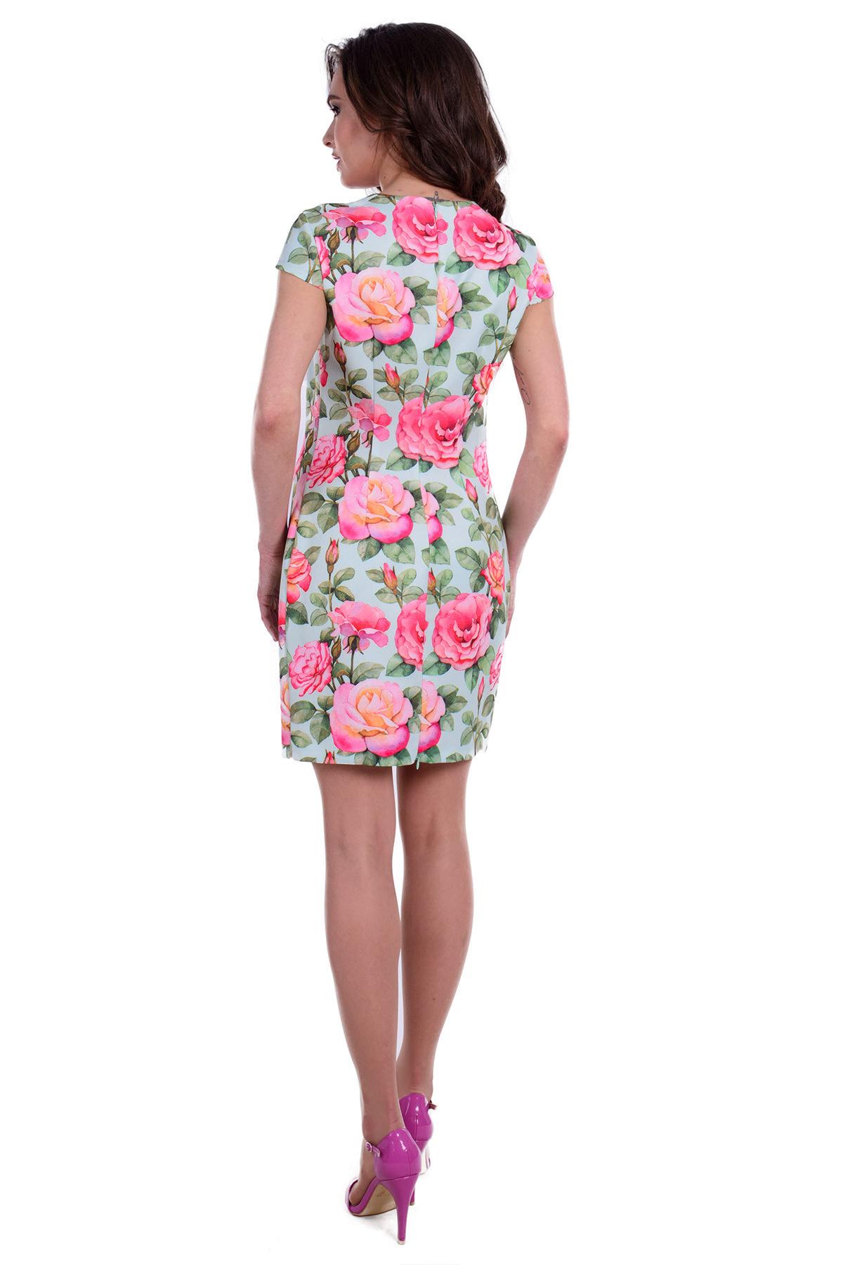 Платье Пиония лайт 94 Цвет: Мята, Роза/розовые