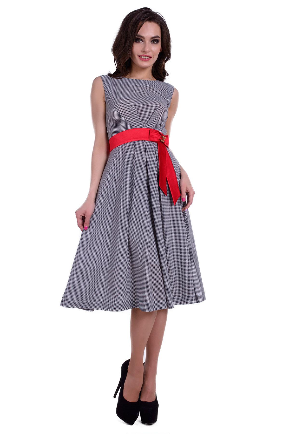 Весенние платья оптом Платье Китти принт креп шифон