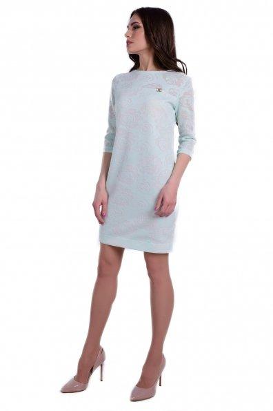 Платье Росси Цвет: Молоко/мята