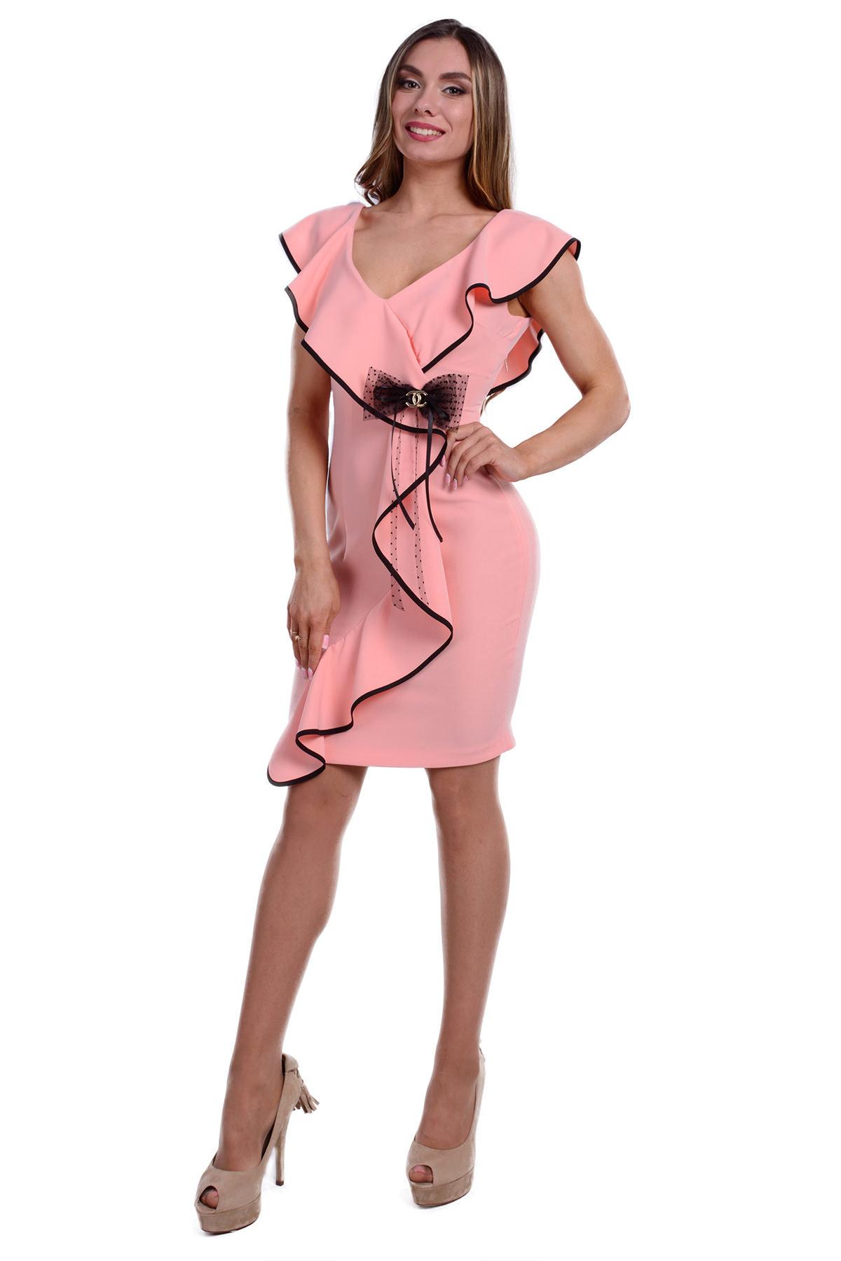 Купить платья женские оптом в Украине Платье Ферреро костюмка креп