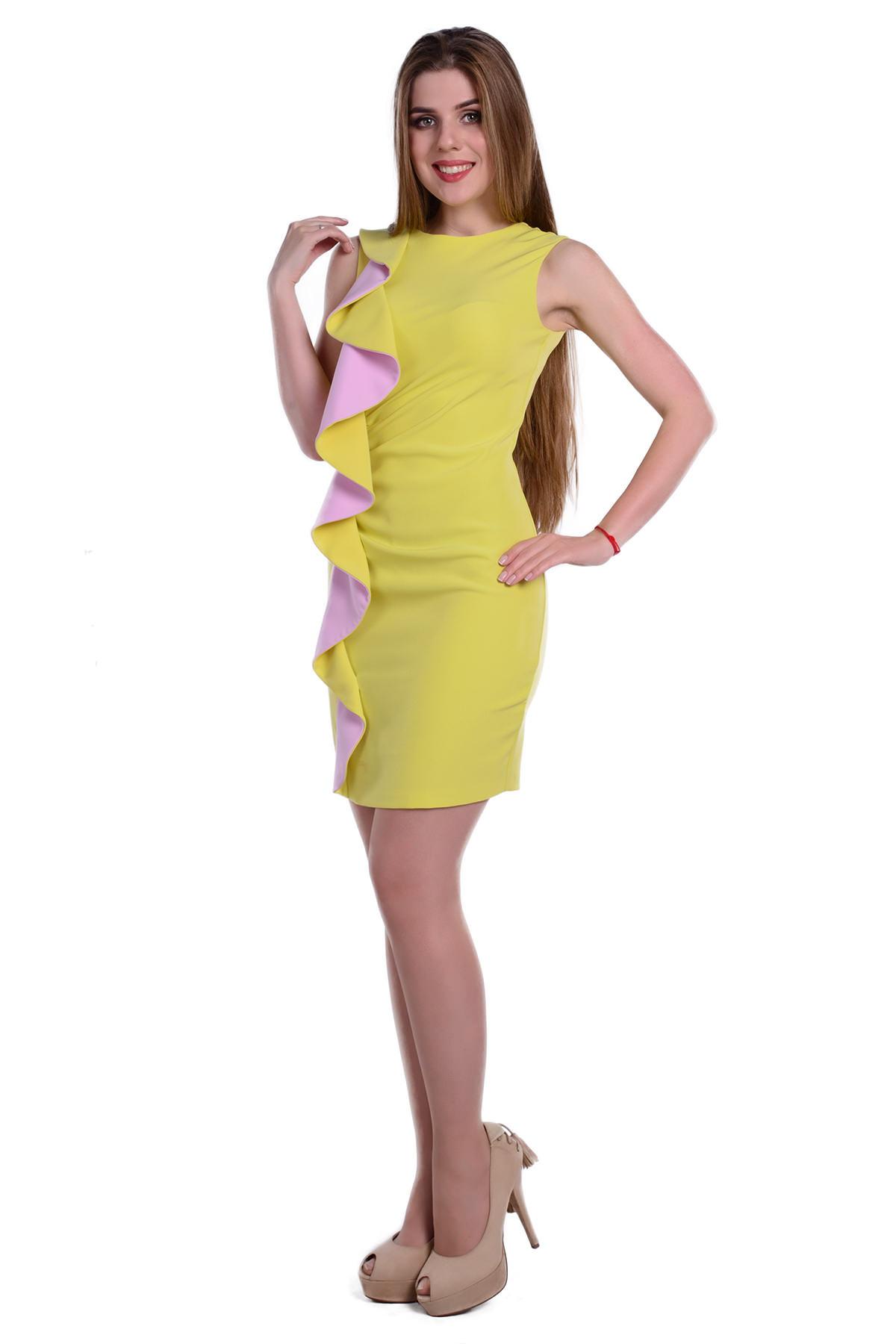 Платье Каприче костюмная Цвет: Лайм / Сирень