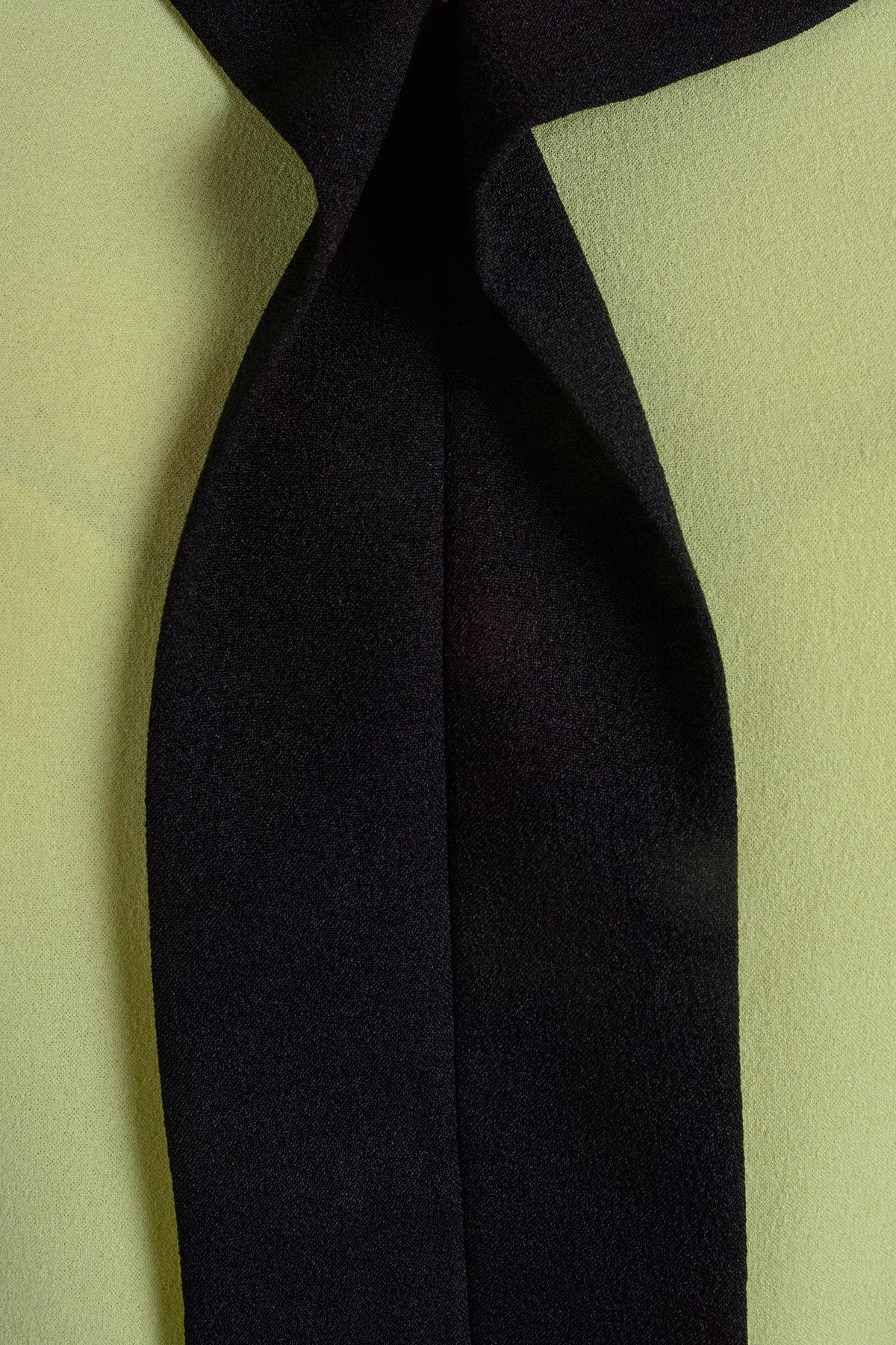 Блуза Фанги 175 Цвет: Лайм / черный
