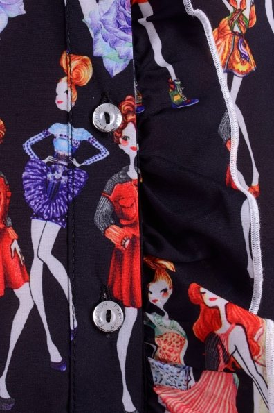 Блуза Джил Цвет: Черный Девушка, Роза