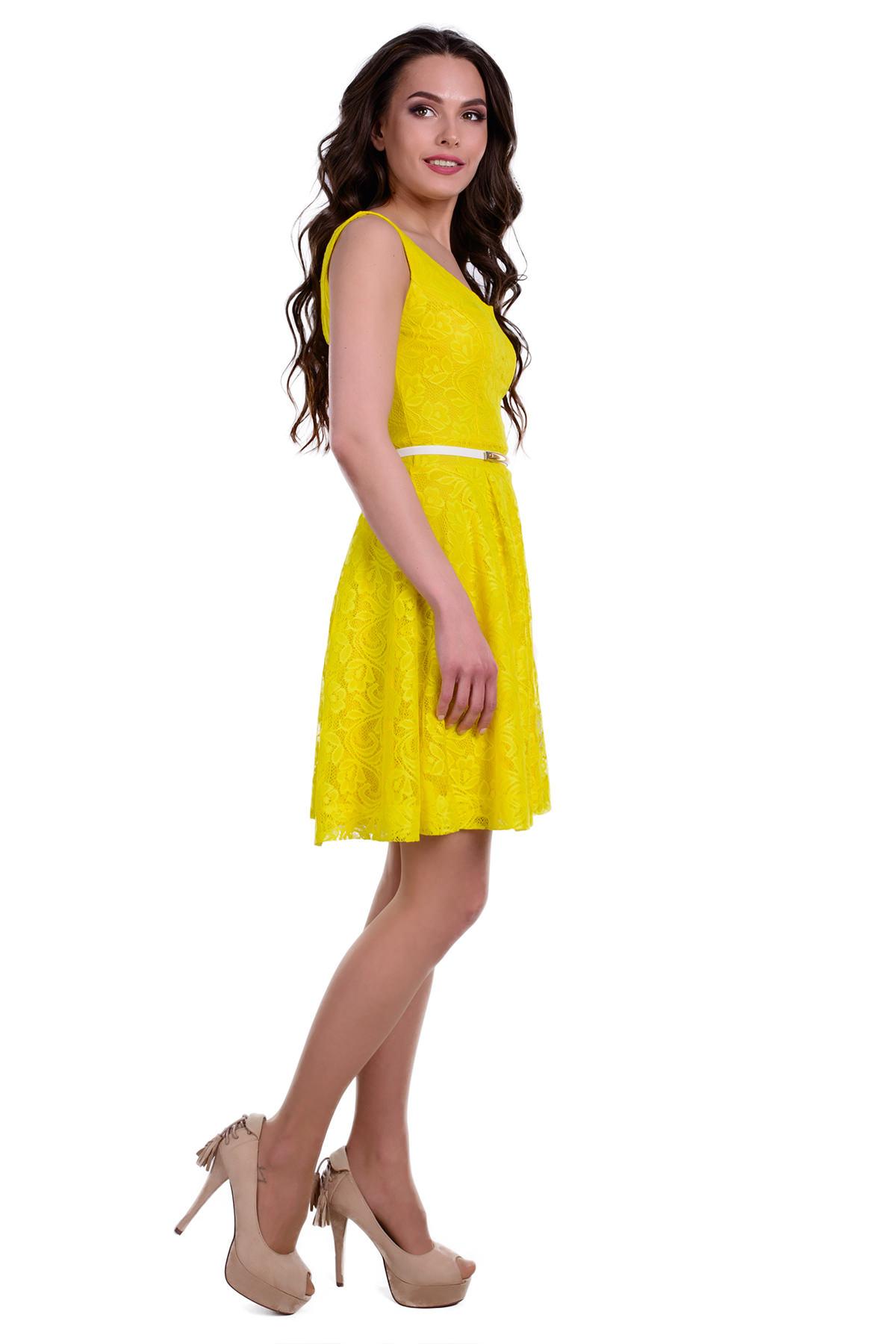Платье Тирамису АРТ. 3633 Цвет: Желтый вензель 4 - фото 2, интернет магазин tm-modus.ru