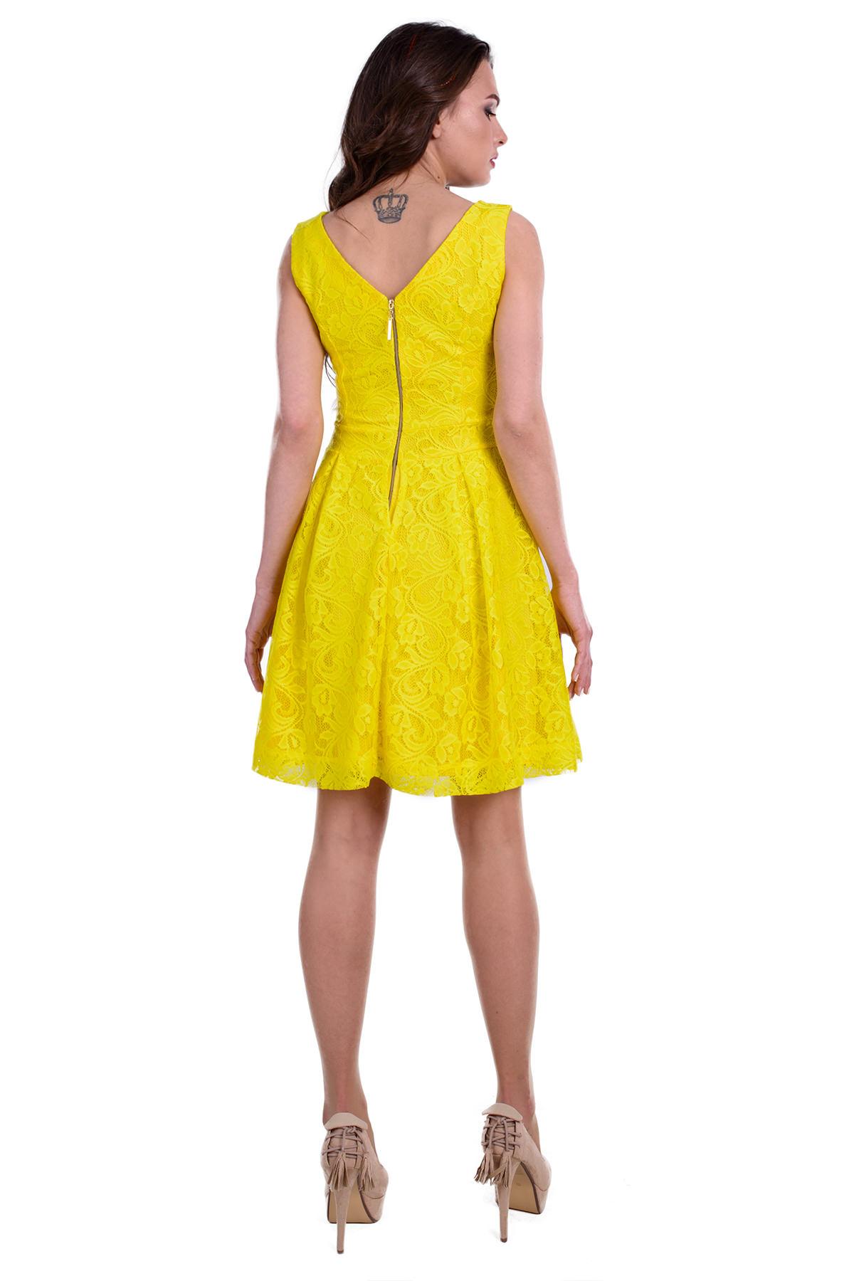Платье Тирамису АРТ. 3633 Цвет: Желтый вензель 4 - фото 3, интернет магазин tm-modus.ru