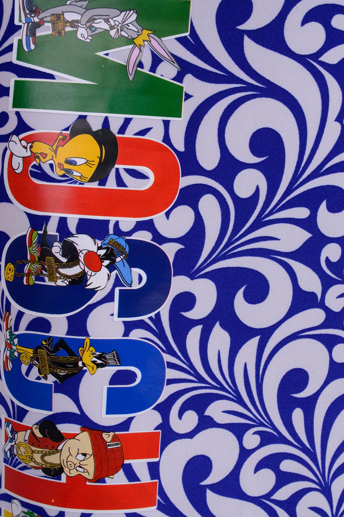 Платье Фарина 233 Цвет: Электрик Вензеля белые