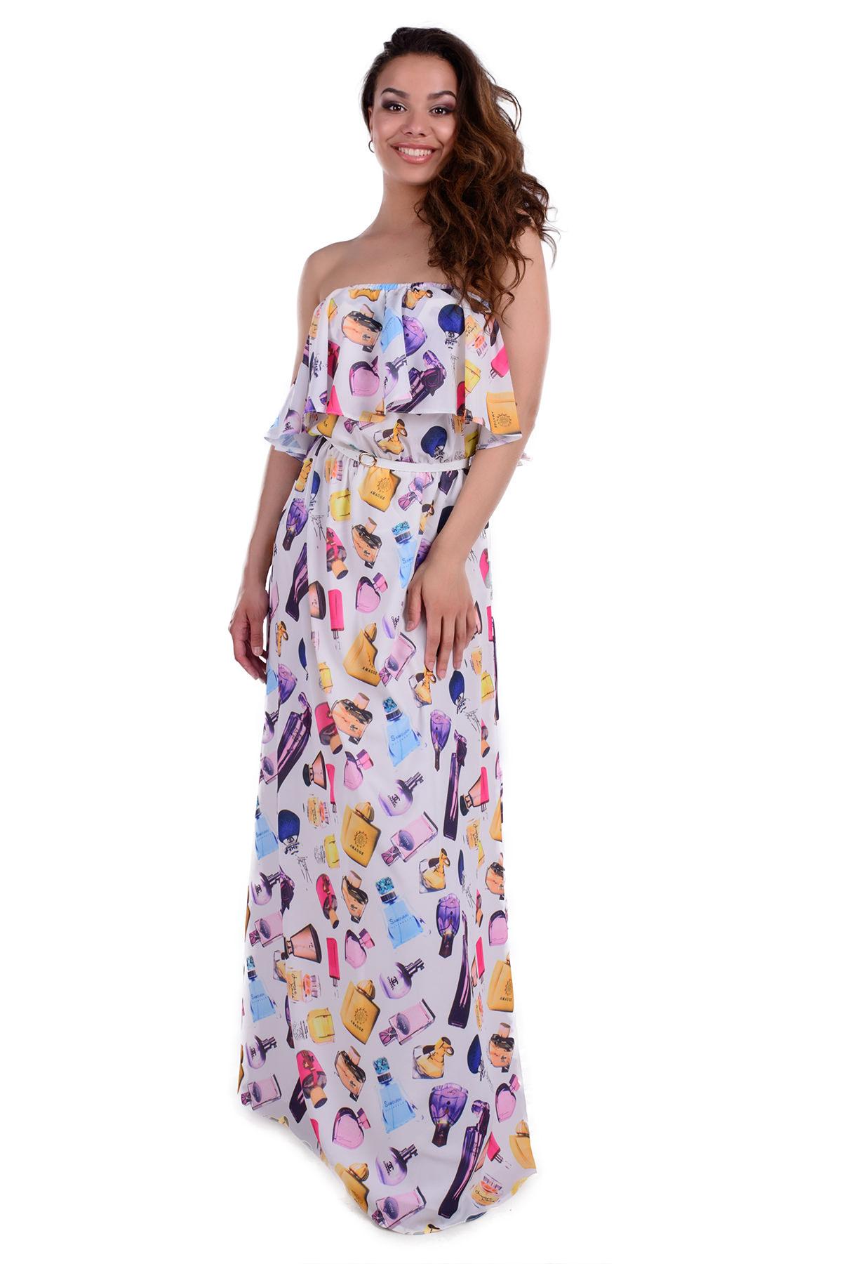 db9867e99d8 Женская одежда оптом от производителя Платье Крис креп шифон принт стрейч