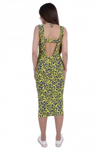 Платье Фарина 233 Цвет: Электрик Вензеля лимон
