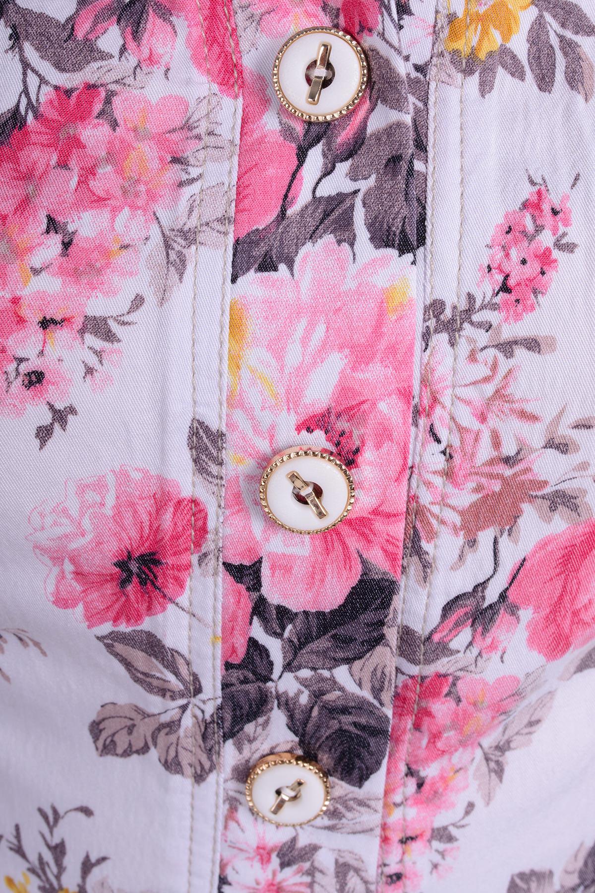 Платье Мона 269 Цвет: Белый цветы 3/2