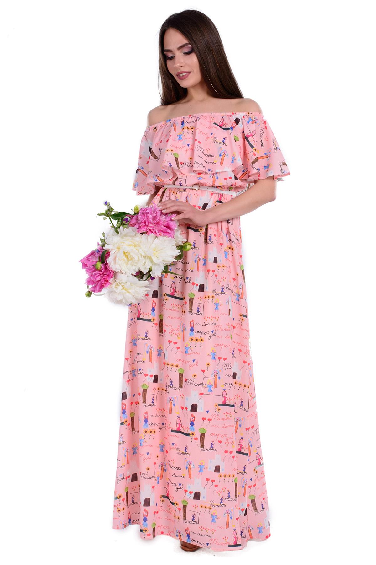 de0db7816c1 Женская одежда от производителя Modus Платье Крис креп шифон принт стрейч