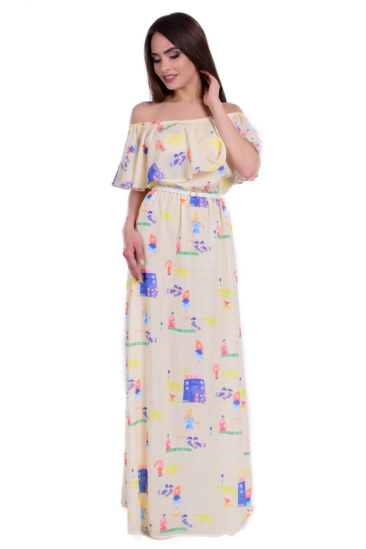 768867c3002 Платья трикотажные оптом от производителя Платье Крис креп шифон принт  стрейч